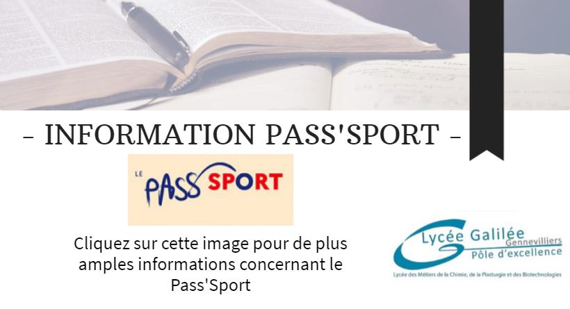 Pass sport actu